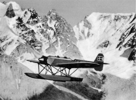 Surveying by H.M. II (Heinkel H.E.8) sea plane in Greenland