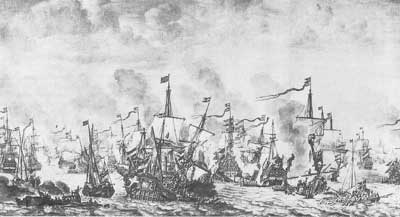 The Battle of Oresound, October 29, 1658.