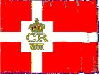 The Danish square flag with the Royal Insignia...