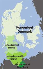 The Kingdom of Denmark and the three duchies