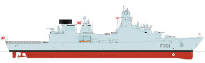Final design drawing of the upcoming three new frigates of the IVER HUITFELDT Class