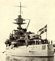 On the 30th of August the crew was mustered for the last time and the Danish Naval Ensign were stricken