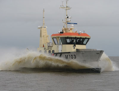 The Environmental Protection Vessel MILJØ 103 during first sea trials