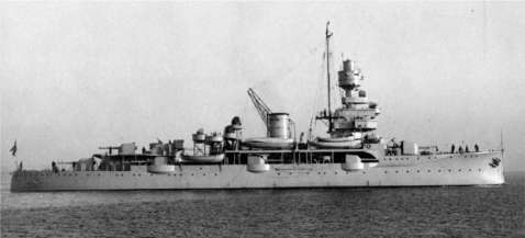 The light cruiser NIELS IUEL