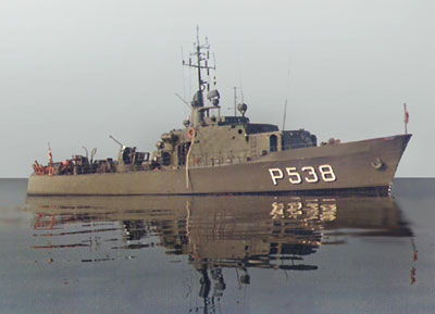 The seaward defense craft ROTA