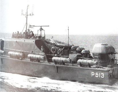 The Fast Patrol Boat SØHESTEN equipped as a small minelayer