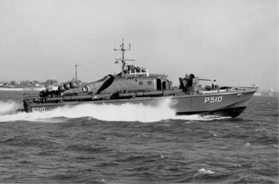 The Fast Patrol Boat SØLØVEN during initial sea trials