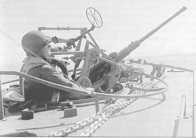 The 20 mm machine gun on board a motortorpedoboat of the GLENTEN Class